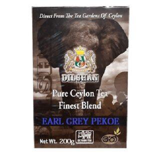 Чай Dilshan Earl Grey Pekoe Black Tea (Эрл Грей Пекое), цейлонский, 200 г