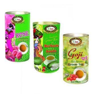 Чай Gred Summer Cocktail Green Tea (Роза, Барбарис Саусеп, Ягоды Годжи), цейлонский, 3*120 г, 360 г