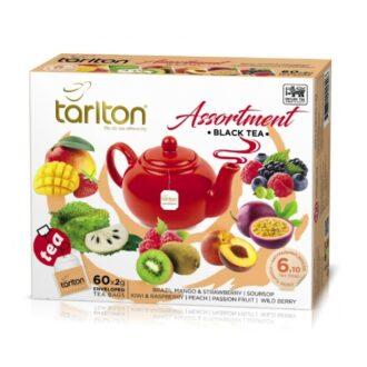 Чай Tarlton Assortment Black Tea (Черный Ассорти), цейлонский, пакетированный, 6*10x2 г, 120 г